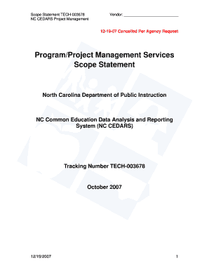 ncdpi project management lessons form