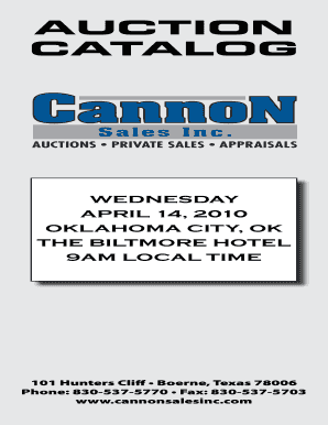 Cannon Auction Oilfield - Fill Online, Printable, Fillable