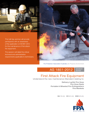 First Attack Fire Equipment AS 1851-2012 - Fire Protection ...