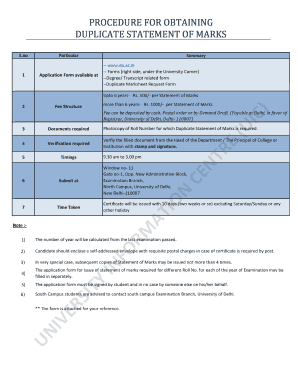 Printable how to get duplicate marksheet from college - Edit, Fill