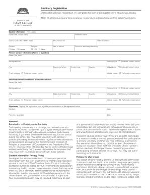 Lds Seminary Registration - Fill Online, Printable, Fillable, Blank