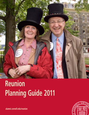 Reunion Planning Guide 2011 - Alumni - Cornell University