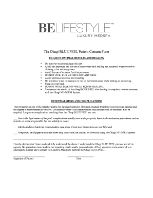 Peel Consent Form - Fill Online, Printable, Fillable, Blank ...