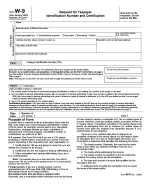 Fillable Online NJ Tenant Security Deposit W-9 Form - Garden State ...