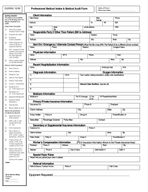 Fillable Online Professional Medical Intake & Medical Audit Form Fax on external audit staff, hospital accreditation, medical guideline, national health service, medical referral forms, data collection forms, medical assessment forms, performance audit, quality audit, clinical pathway, program evaluation forms, health care provider, research forms, clinical peer review, environmental audit, medical legal forms, auditor's report, case management forms, generally accepted auditing standards, patient admission forms, patient care forms, medical examination forms, medical peer review cartoon, medical business forms, medical claims forms, medical evaluation forms, medical records forms, primary health care, evidence-based medicine, national service framework, quality improvement forms, national institute for health and clinical excellence, clinical governance, audit risk, peer review forms, medical registration forms, medical information forms, evidence-based nursing, employee peer evaluation forms, patient safety,