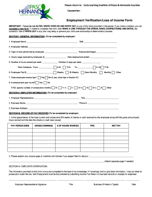 Loss Of Income Verification Form - Fill Online, Printable ...