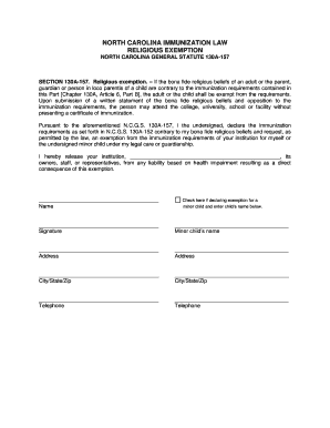 Fillable Online Religious Exemption Form - SharpSchool Fax Email ...