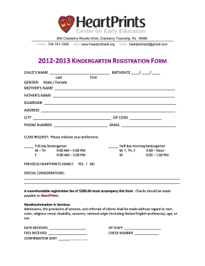 peel kindergarten registration form pdf