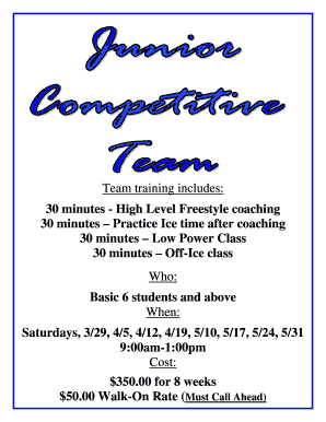 Jr Competitive Team Flyer and Registration Form - Palm Beach Ice ...