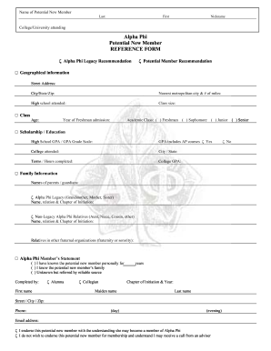 Fillable Online und Legacy & Reference Form.pdf - Alpha Phi Fax ...