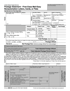 2014-2017 Form USPS PS 3600-EZ Fill Online, Printable, Fillable ...