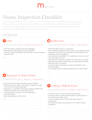 Home Inspection Checklist - MyMove.com
