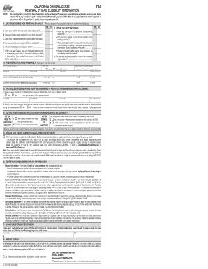 renew drivers license ca form