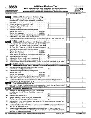 Irs Form 8959 For 2014 - Fill Online, Printable, Fillable, Blank ...