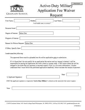 military waiver denied - Edit, Fill Out, Print & Download Online