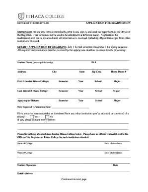 Sample Appeal Letter For College Readmission Edit Print Fill Out