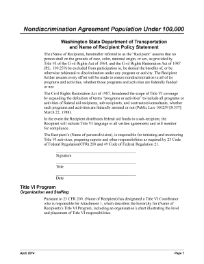 Fill out online forms templates download in word pdf appendix 2872 nondiscrimination agreement population under 100000 local agency guidelines m 36 63 platinumwayz