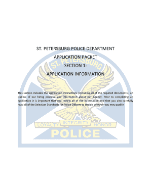 Fillable Online police stpete This section includes the