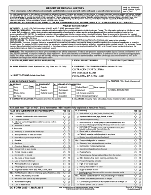 Fillable Online uscg DD Form 2807-1, Report of Medical History ...