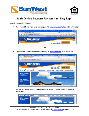 www swmc com myloan Fillable Online Make On-line Electronic Payment - In 3 Easy Steps ...