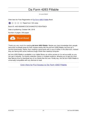 Fillable Online alternativeartsproject Da Form 4283 Fillable. da ...