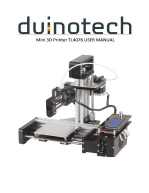 duinotech mini 3d printer manual