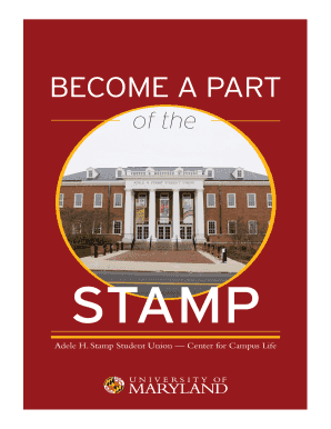 Fillable Online Stamp Student Union Center For Campus Life Fax Email