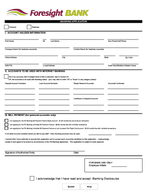 Fillable Online iBANKING APPLICATION Fax Email Print - PDFfiller