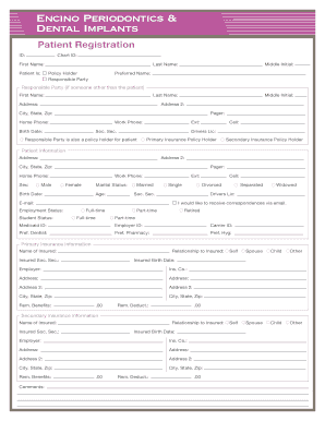 Periodontal chart template - Edit & Fill Out, Download Printable ...