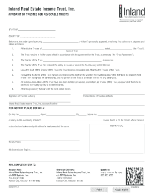 AFFIDAVIT OF TRUSTEE FOR REVOCABLE TRUSTSEditable revocable trust agreement form   Fillable   Printable  . Florida Revocable Trust Forms. Home Design Ideas