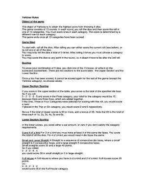 photograph about Yahtzee Rules Printable named maxi yahtzee laws - Fillable Printable Final Sorts in the direction of