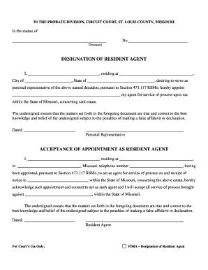 termination of guardianship missouri - Edit, Fill, Print