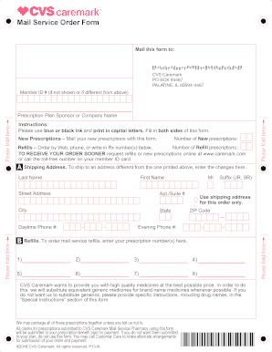 Fillable Online pmcpr Mail Service Order Form - pmcpr.org Fax ...