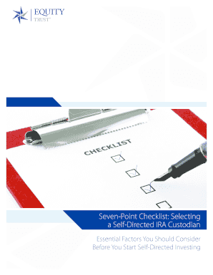 Printable self directed ira custodian - Fill Out & Download