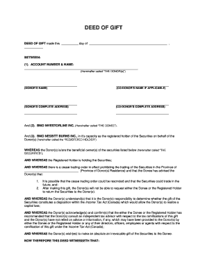 deed of gift made this day of fill online printable