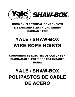 fillable online yale shaw box wire rope hoists cmworks com fax shaw box hoist manual shaw box wiring diagrams