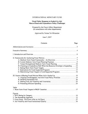 features of fiscal policy pdf