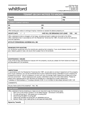 TENANT ROUTINE INSPECTION FORM