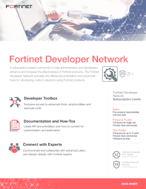 Fortinet Developer Network Fill Online, Printable, Fillable, Blank