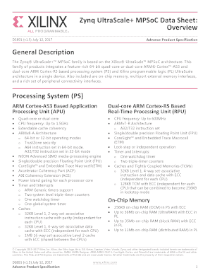 Fillable Online Zynq UltraScale+ MPSoC Data Sheet: Fax Email