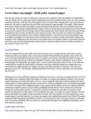 Fillable Online Cover letter cna sample - birth order ...