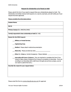 Scholarship Application Cover Letter Sample Buffett