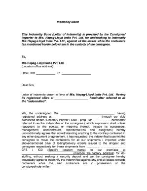 Fillable online this indemnity bond letter of indemnity is fill online altavistaventures Images