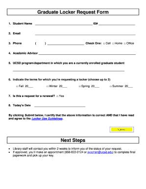 Printable request for locker edit fill out download form graduate locker request form librariesucsd altavistaventures Image collections