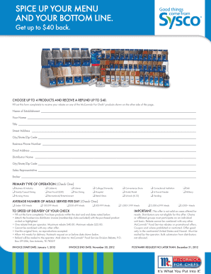 Complete Printable sysco food and beverage catalog Samples Online in