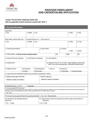 provider enrollment and credentialing application fill online printable fillable blank. Black Bedroom Furniture Sets. Home Design Ideas