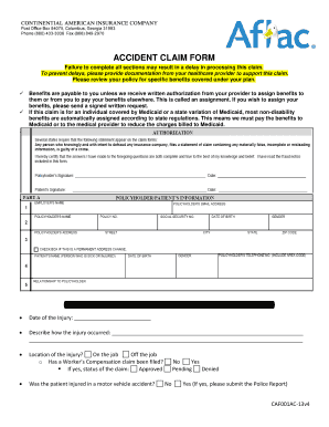 Aflac Dental Claim Form Fillable Tekil Lessecretsdeparis Co