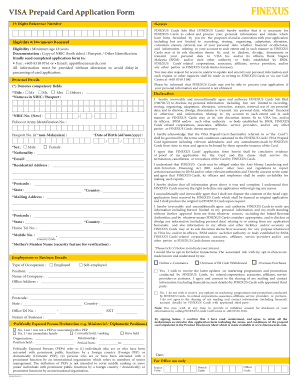 Visa Pek Formin Fi - Fill Online, Printable, Fillable, Blank ... Prepaid Card Application Form on twic application form, loan application form, board application form, invitation application form, credit application form,