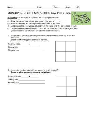 33 Monohybrid Crosses Practice Worksheet Answer Key ...