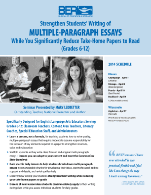 multiple paragraph essays - Bureau of Education & Research